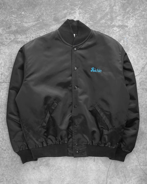 """Richie"" Raquetball Satin Coaches Jacket - 1990s"