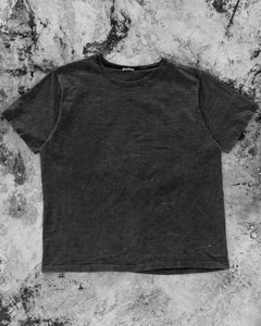 Single Stitched Blank Faded Black Tee - 1990s