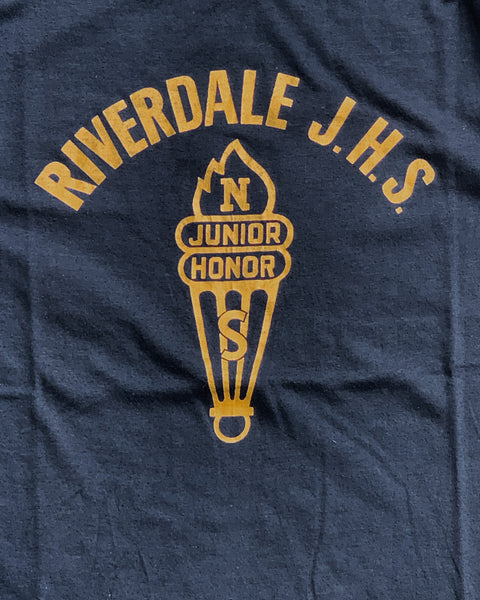 "Single Stitched ""Riverdale Junior Highschool"" Tee - 1970s"