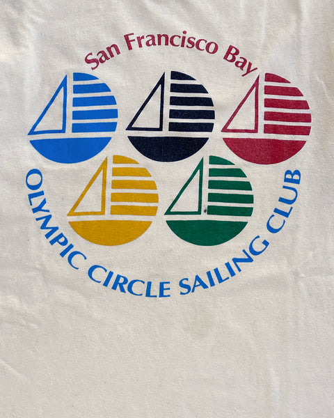 "Single Stitched ""San Francisco Olympic Sailing Club"" Tee - 1990s"