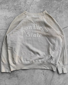 "Sun Faded ""San Diego State"" Raglan Sweater - 1960s"