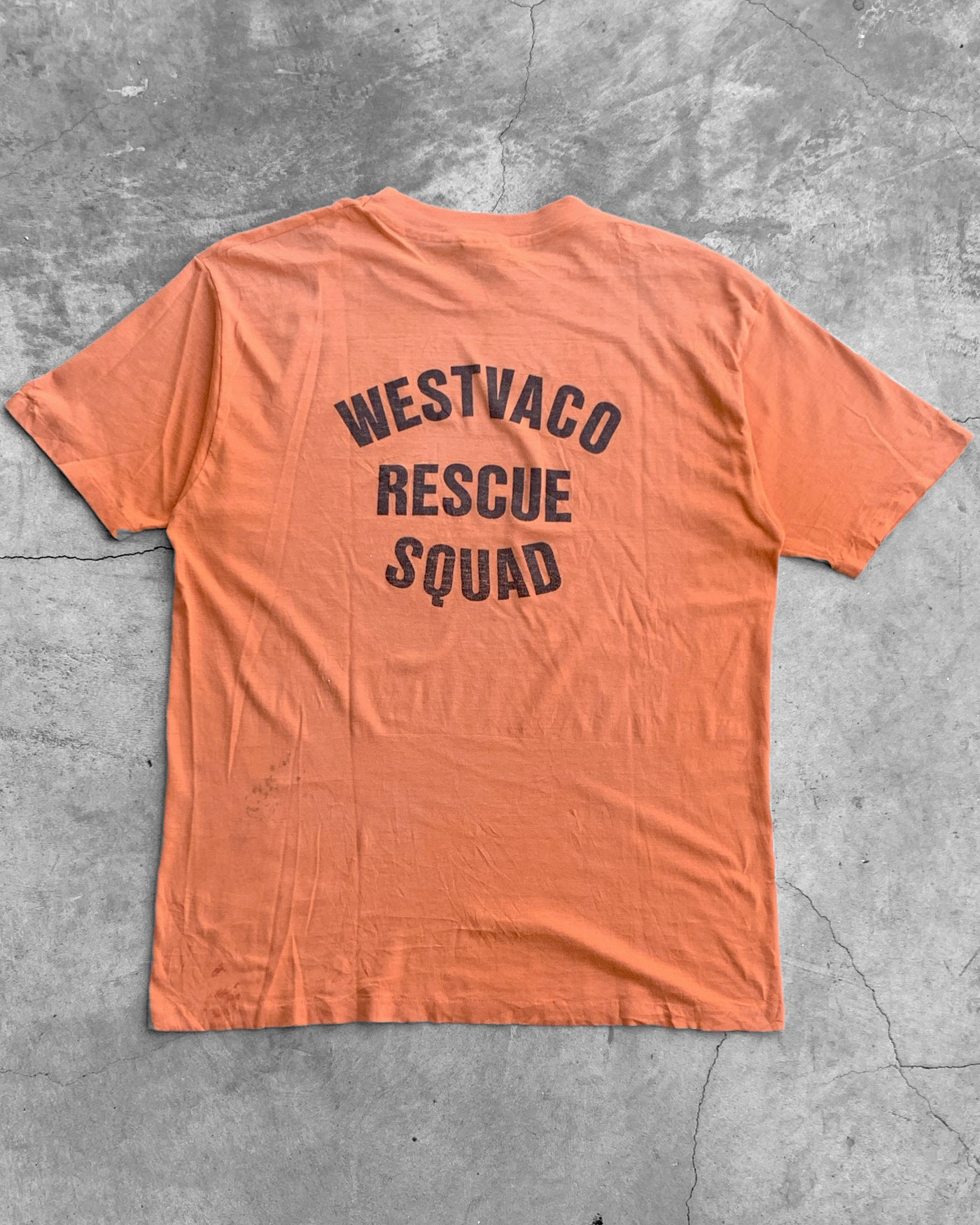 "Single Stitched ""Westvaco Rescue Squad"" Tee - 1987"