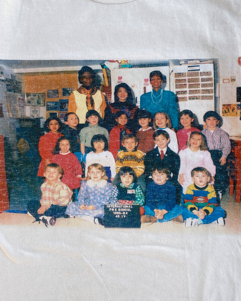 "Jerzees ""International Pre-School"" Class Photo Tee - 1990s"