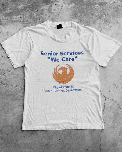 "Single Stitched ""Senior Services"" Paper Thin Tee - 1990s"