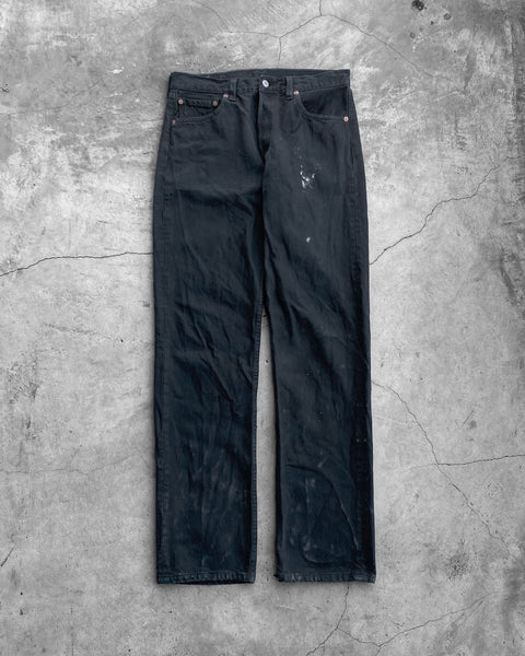 Levi's 501 Black Lightly  Painted Jeans- 1990s