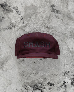 "Burgundy Overdyed ""SMASH"" Hat - 1990s"