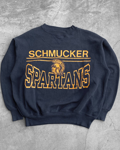 "Champion ""Schmucker Spartans"" Navy Sweatshirt - 1990s"