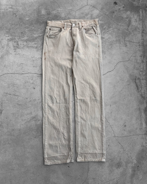 Levi's 501 Dirty Stained Beige Jeans