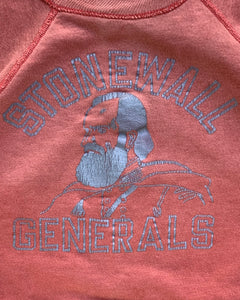 "Sun Faded ""Stonewall Generals"" Short Sleeve Raglan Sweater - 1980s"