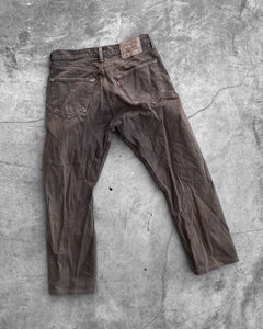Levi's 501 Faded Mud Brown Denim Jeans