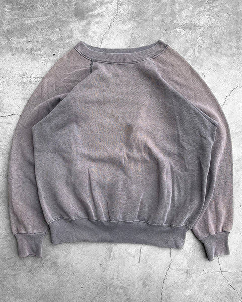 Sun Faded Grey Raglan Sweatshirt - 1970s
