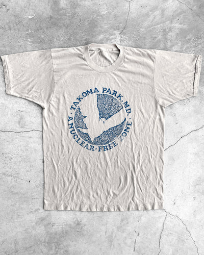 "Paper Thin Single Stitched ""Tacoma Park"" Political Tee -  1980s"