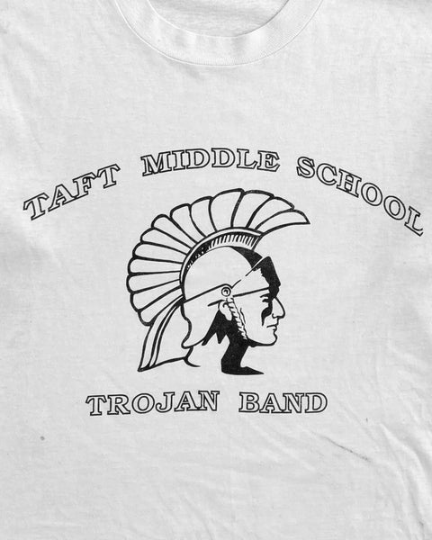 "Single Stitched ""Taft Middle School Trojans Band"" Longsleeve Tee - 1990s"