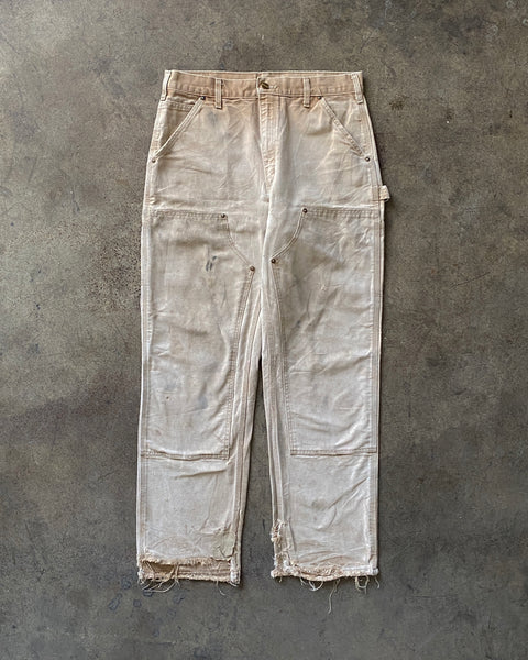 Painted & Distressed Carhartt Double Knee Work Pant - 1990s