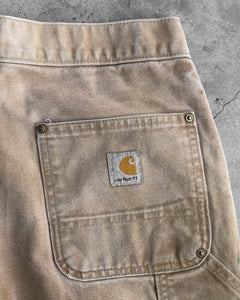 Carhartt Beige Painted Double Knee Pants - 1990s