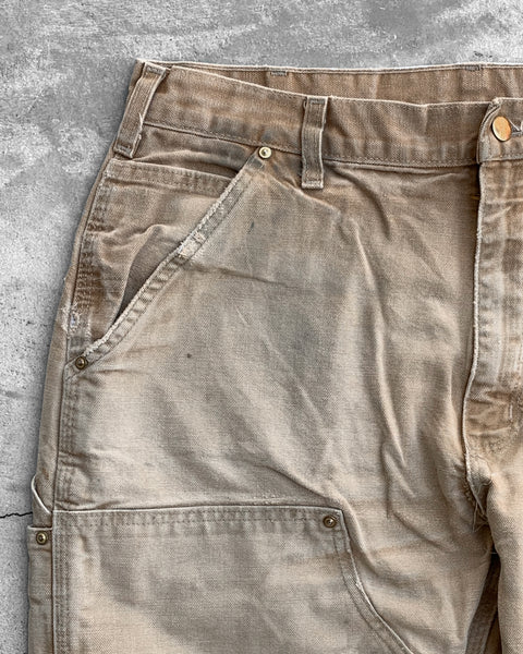 Carhartt Sand Double Knee Distressed Work Pant - 1990s