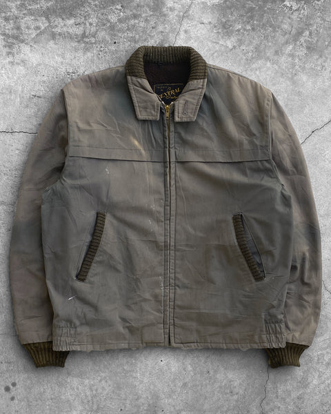 Fleece Lined Sun Faded Brown Work Jacket - 1980s