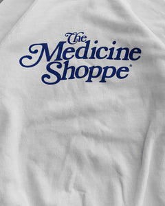 "Faded ""The Medicine Shop"" Raglan Sweater - 1980s"