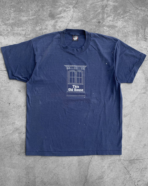 "Single Stitched Navy ""This Old House"" Tee - 1990s"