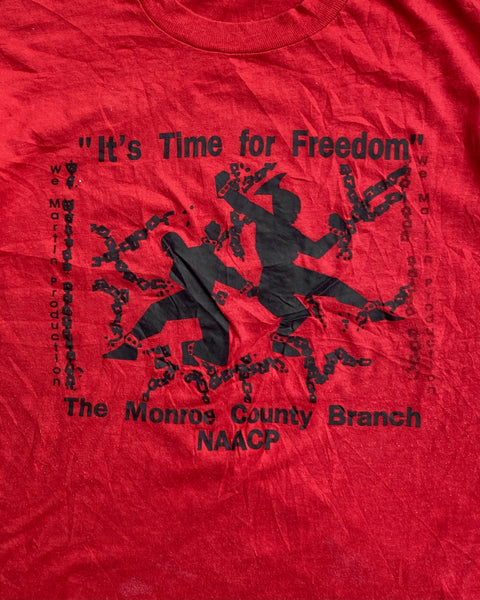 "Screen Stars ""It's Time for Freedom"" NAACP Tee - 1990s"