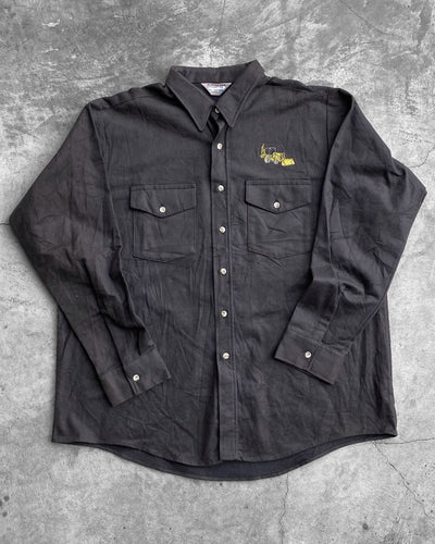 Embroidered Truck Flannel Shirt - 1990s