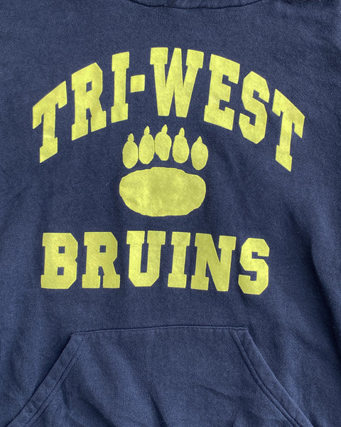 "Russell ""Tri-West Bruins"" Hooded Sweatshirt - 1990s"