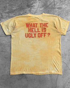 "Thrashed Single Stitched ""What The Hell Is Ugly Off"" Tee - 1980s"