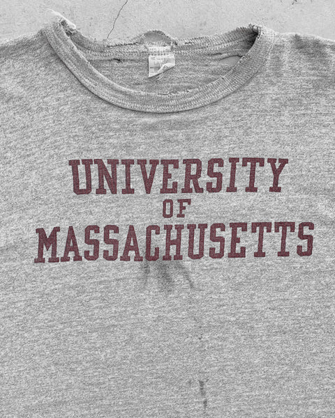 Single Stitched Champion University Of Massachusetts Collegiate Tee - 1970s