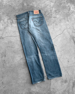 Levi's 501 Oil Stained Knee Blowout Jeans
