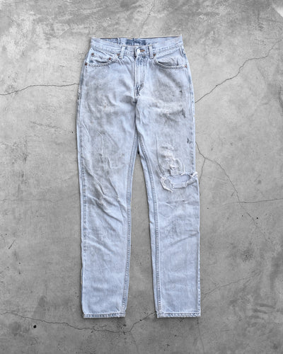 Levi's 512 Stained & Distressed Jeans - 1990s