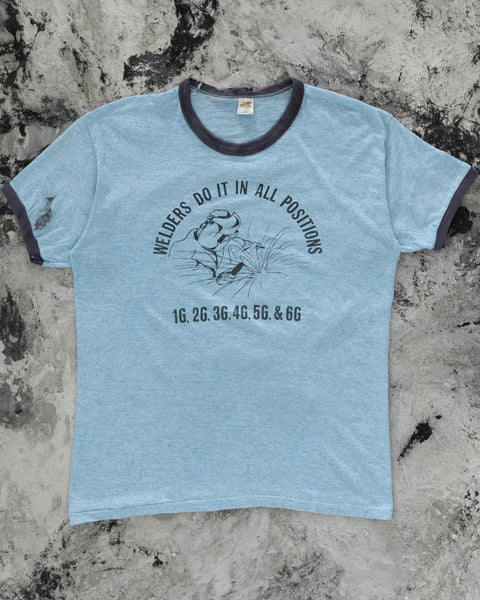 "Russell ""Welders Do It In All Positions"" Ringer Tee - 1970s"