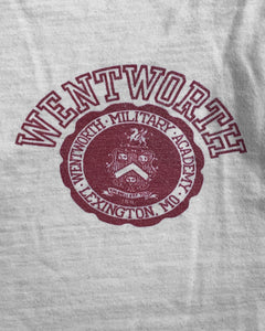 "Single Stitched ""Wentworth Military Academy"" Ringer Tee - 1970s"