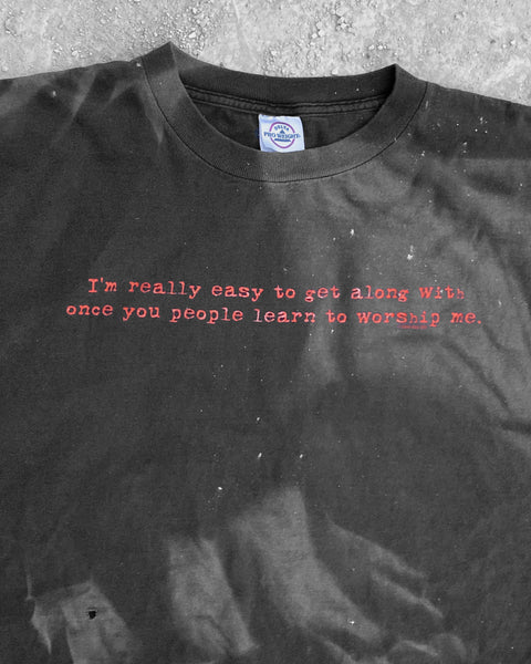 "Sun Bleached  ""...Learn to Worship Me"" Tee - 1990s"