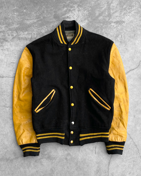 Black and Yellow Varsity Jacket - 1960s