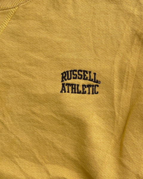 Russell Athletic Golden Yellow Sweatshirt - 1990s