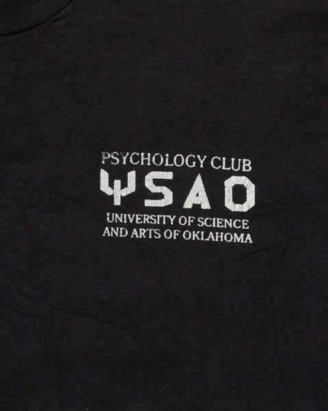 "Fruit of The Loom Painted ""Psychology Club"" Tee - 1990s"