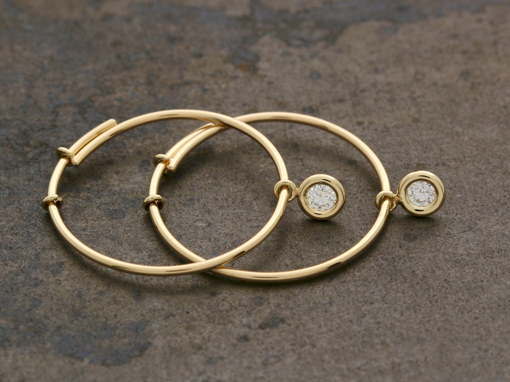 Tori Diamond Hoops
