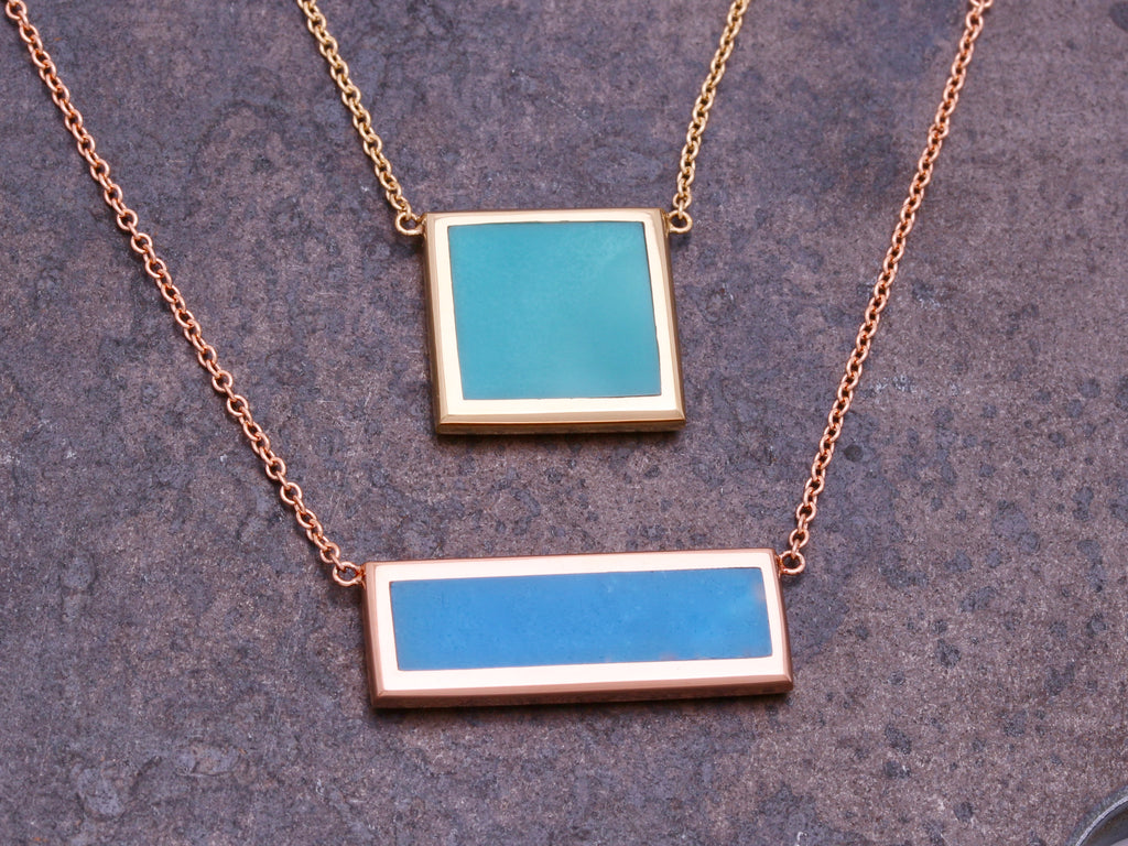 Effervescent Bleu Bar Necklace