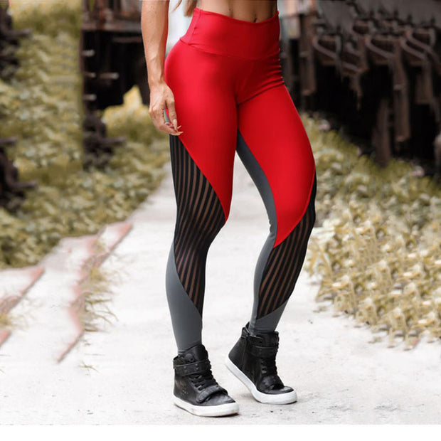 High Waist Patchwork Leggings - yogabodyshape