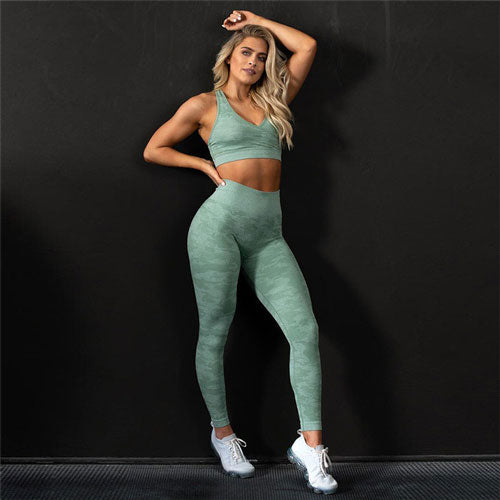 Crop Top + Yoga Leggings - yogabodyshape