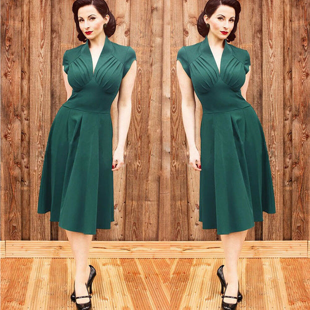 Stretch High Waist Elegant Formal Dress - Yoga Body Shapes
