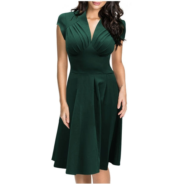 Stretch High Waist Elegant Formal Dress - yogabodyshape
