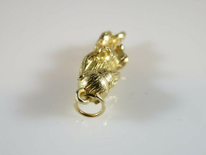 Heavy 3D Laughing Otter Alaska 14K Yellow Gold Travel Charm/Pendant - Just Stuff I Sell