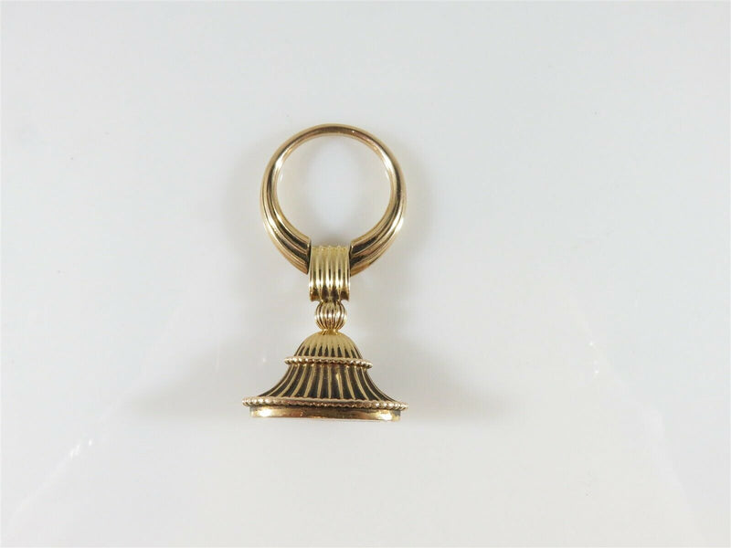 14K Yellow Gold Antique Pocket Watch Fob with High Quality Bloodstone - Just Stuff I Sell