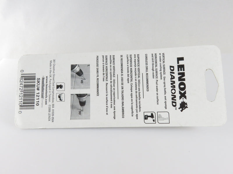 "Lenox SKU 12110 Diamond Hole Saw 1/2"" 13mm"