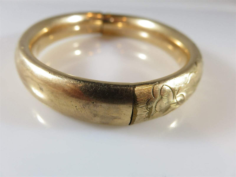 "Antique Victorian Gold Filled Etched Bracelet Cam & Co Approx 6 1/2"" Wrist - Just Stuff I Sell"