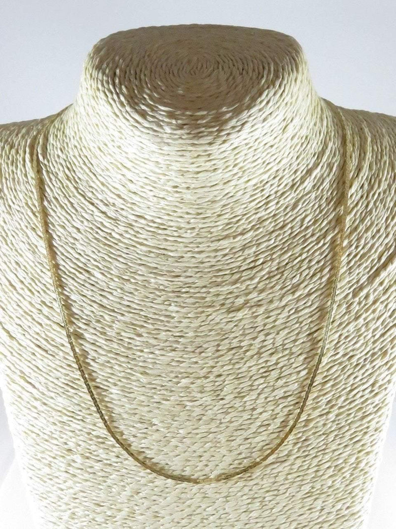 "Mexico MC-47 14K Yellow Gold Serpentine Necklace 19 1/2"" 1.5mm 4.2 Grams - Just Stuff I Sell"
