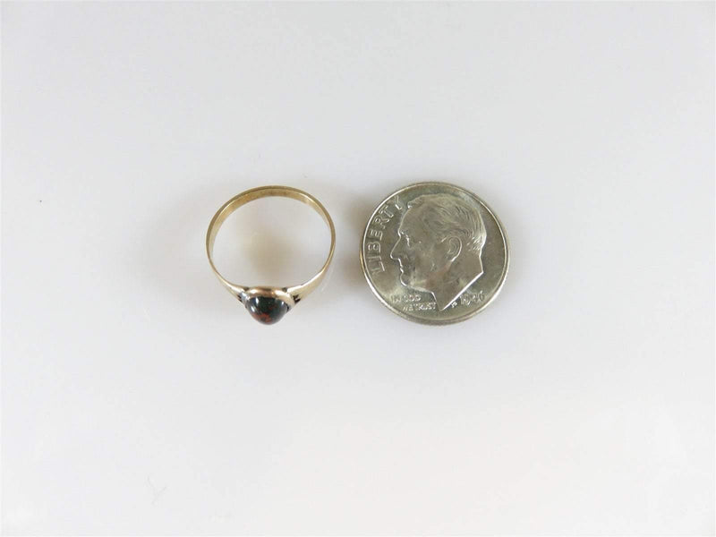 Antique Victorian Cabochon Bloodstone 10K Gold Children's Ring Size 2 1/2 - Just Stuff I Sell