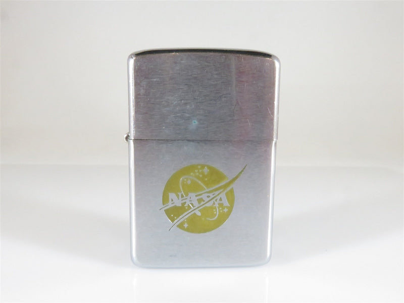 1968 Zippo Lighter NASA Emblem Etched Signature w/Date Apollo Era - Just Stuff I Sell