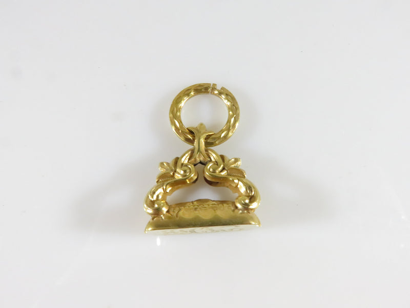 Antique Victorian Gold Filled Pierced Pocket Watch Fob Charm Monogramed - Just Stuff I Sell